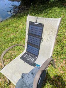 10W solar array