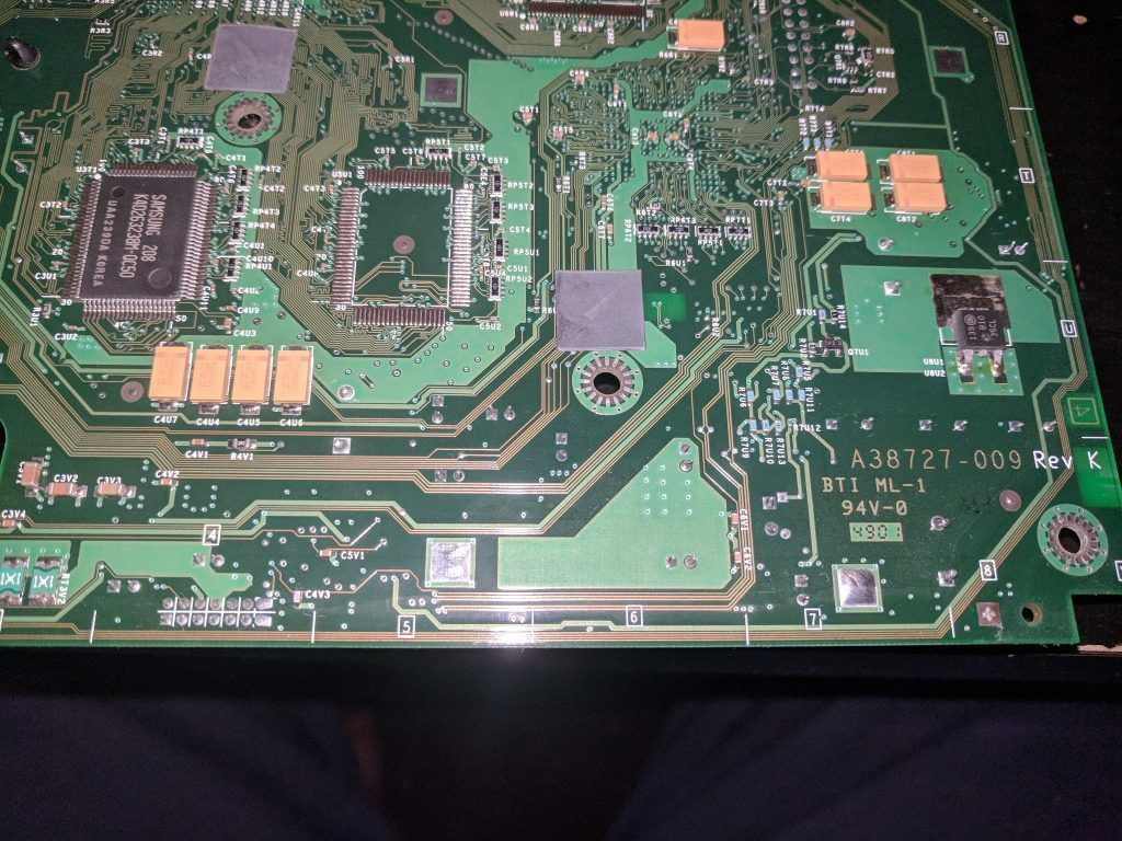 XBox motherboard bottom