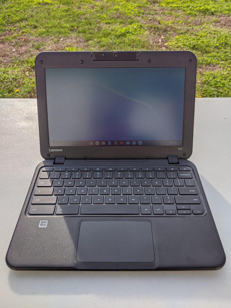Chromebook N22 open