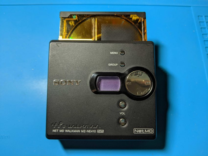 Sony MZ-NE410 with disc